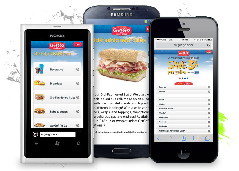 GetGo Mobile Website