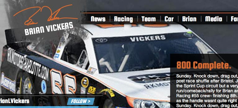 Brian Vickers Website