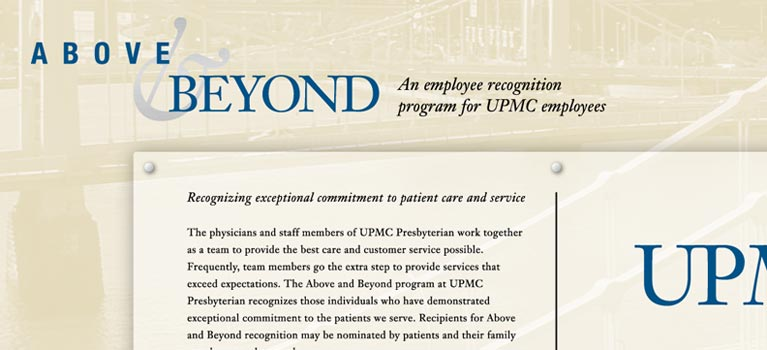 UPMC Above & Beyond Displays